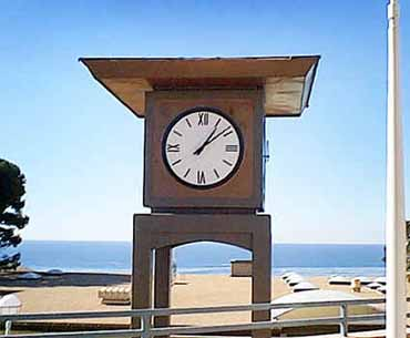 View of the Cooper Hall Clock